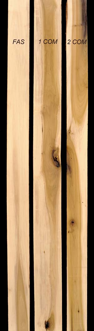 Sample grades of Poplar Lumber | Thompson Hardwoods